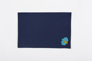 LA`AL Textiles/ Настольная дорожка - голубая (a), подтарельники, 6 штук