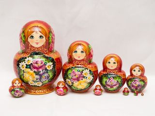 Matryoshka 10 places Souvenir tray
