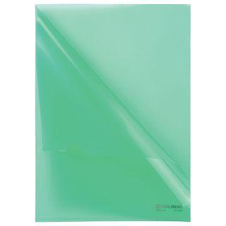 Folder corner hard BRAUBERG, green, 0.15 mm
