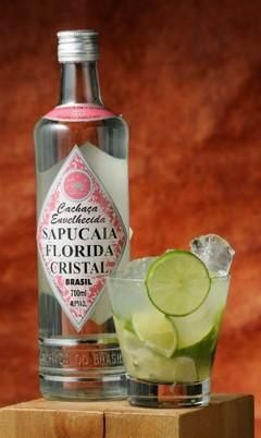 Premium cachaose in bottles 'The Crystal of Florida'
