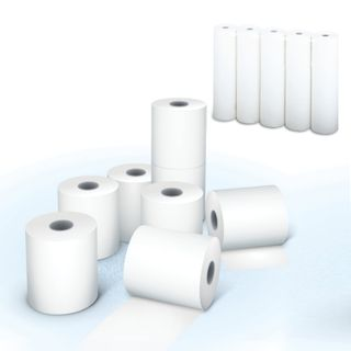 Receipt tape OFFSET 57 mm (diameter 54 mm, length 22 m, the sleeve 12 mm) NOT thermal PAPER, white 96%, SET 15 PCs, AKZENT