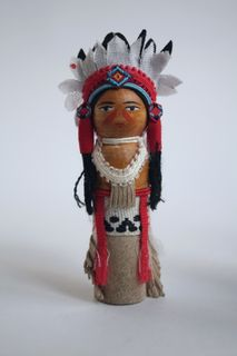 Doll gift. Warrior. 20th century. Indians. USA.