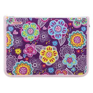 Folder for notebooks PYTHAGORAS, A4, 1 compartment, plastic, zipper around,