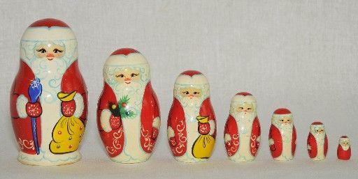 """Vyatka souvenir / Matryoshka """"Santa Claus"""", 7 ave."""