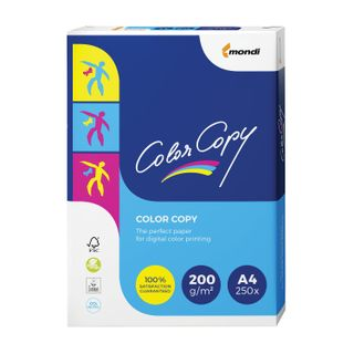 COLOR COPY / A4 paper, 200 gsm, 250 sheets, for full color laser printing, A ++, Austria, 161% (CIE)