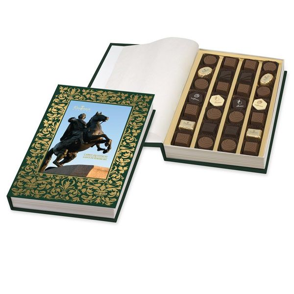 Chocolate book with sweets 'The Bronze Horseman' 280g