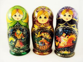 Matryoshka 7 places Fairy tales - Souvenir