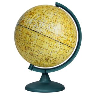 A globe of the moon with a diameter of 250 mm