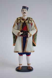 Doll gift. Men's styled suit. Montenegro.