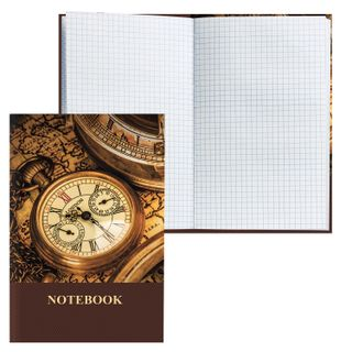 Notebook A5 (135x206 mm), 96 sheets, hardcover, laminated cover, cage, BRAUBERG,