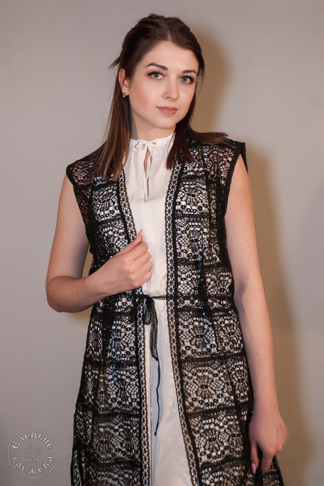 Yelets lace / Women's lace vest С456АУ
