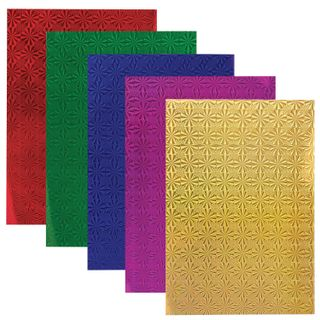Cardboard A4 colored HOLOGRAPHIC, 5 sheets of 5 colors, 230 g/m2,