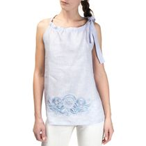 Women's blouse 'deion' pink color with silk embroidery