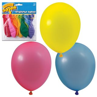 """FUNNY ZATEYA / Balloons 10 """"(25 cm), set of 10 pcs., 10 pastel colors, in a package with euro hanger"""