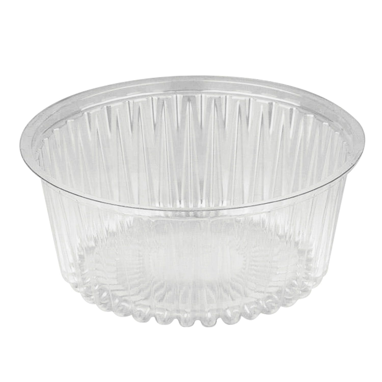 STYROLPLAST / Round disposable container, 500 ml, WITHOUT LID, 132x55 mm, PET, transparent, cap code 604312