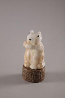 Chipmunk hand carved stone