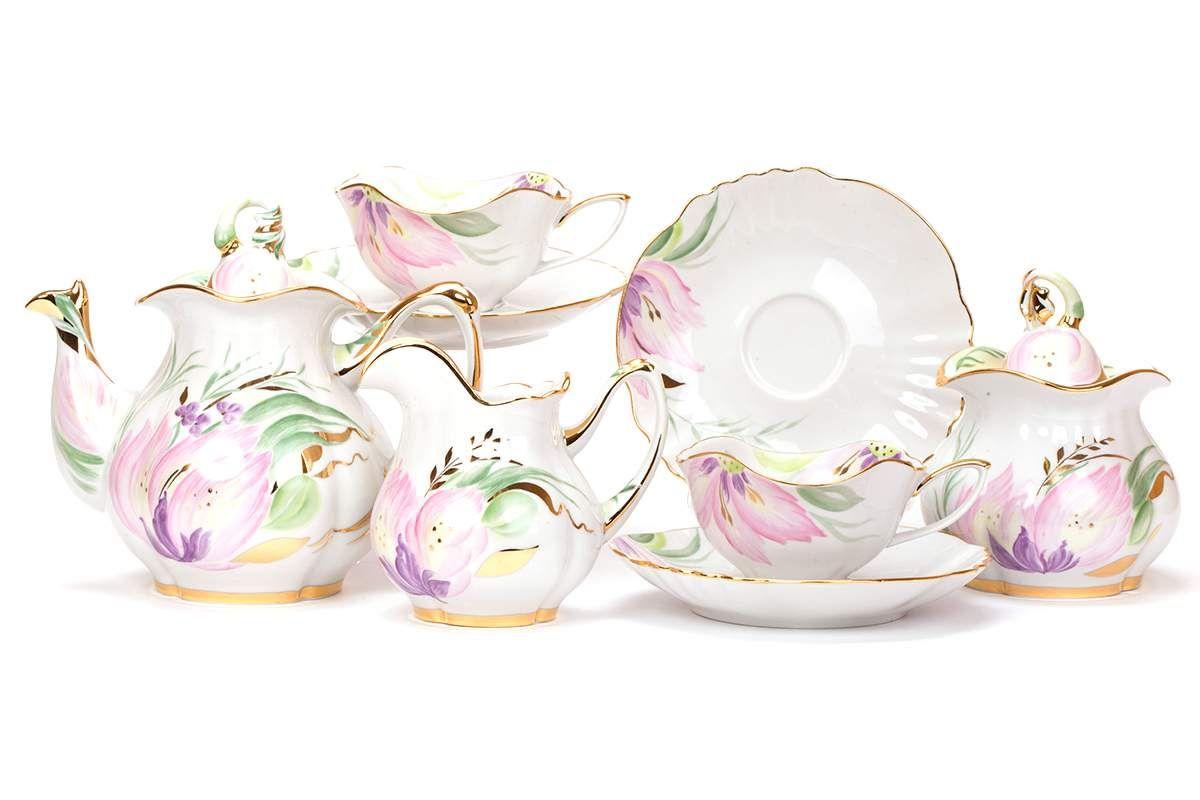 Dulevo porcelain / Tea set 15 pcs. Flowering lily