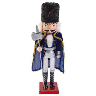 "Wooden figurine""Nutcracker Mouse king"" blue 38 cm"
