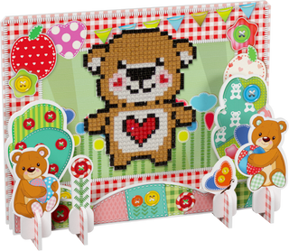 3D puzzle with diamond mosaic: Plush heart
