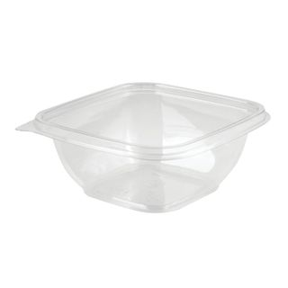 STYROLPLAST / Square disposable container, 375 ml, WITHOUT LID, 126х126х51.5 mm, PET, transparent