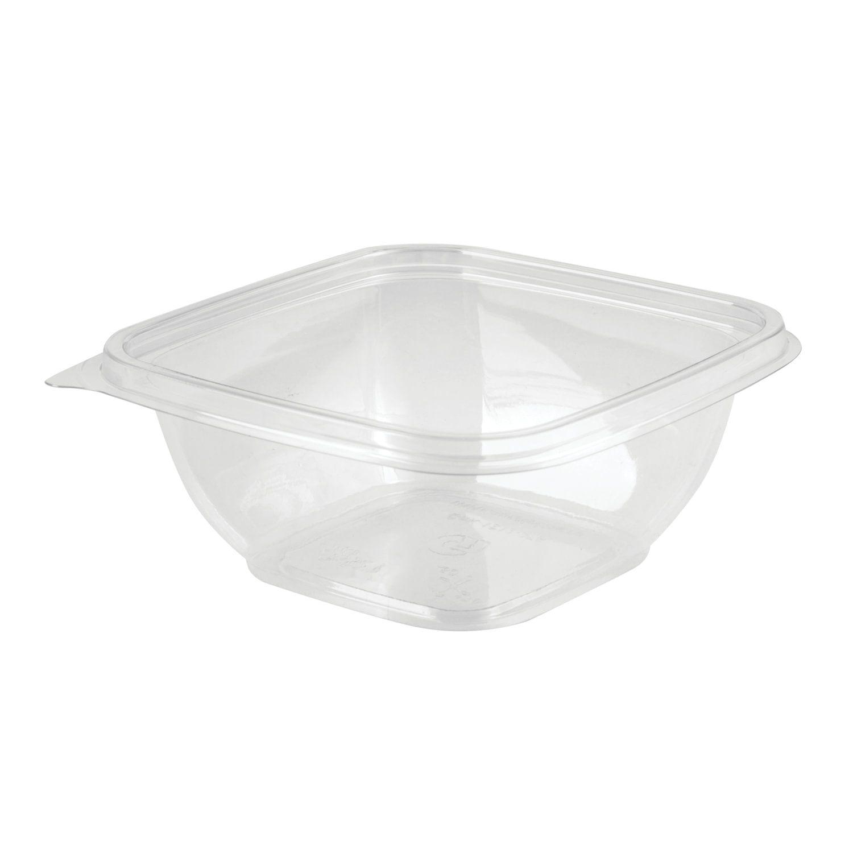 STYROLPLAST / Square disposable container, 375 ml, WITHOUT LID, 126х126х51.5 mm, PET, transparent