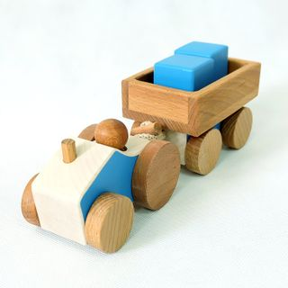"""Bug / Wooden toy """"Tractor with trailer"""""""