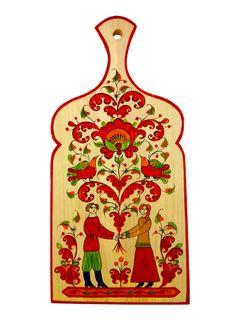 """Board kitchen """"Boretskaya painting. Sovet da Lyubov"""" 37.5 cm"""