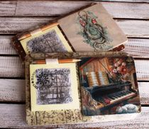 Souvenir fridge magnet with notepad Music mix