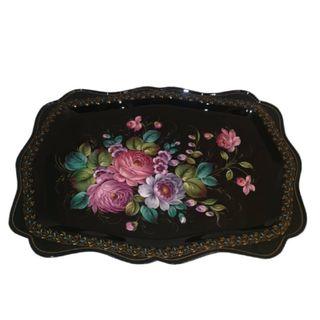 """Zhostovo figured tray """"Flower Paradise"""""""