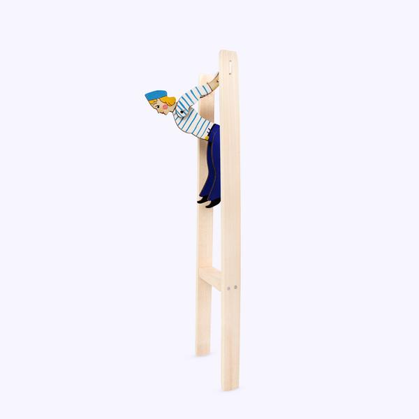 Bogorodsk toy / Wooden souvenir 'Sailor acrobat'