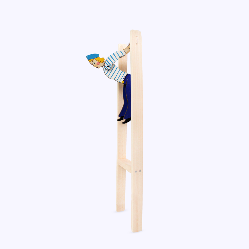 "Bogorodsk toy / Wooden souvenir ""Sailor acrobat"""