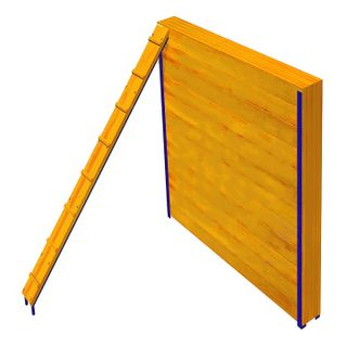 Artificial obstacle course - Fence with an inclined board
