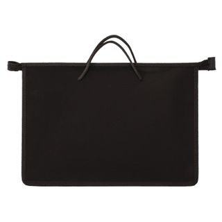The zip folder with handles PYTHAGORAS, A4, plastic, zipper top, plain black