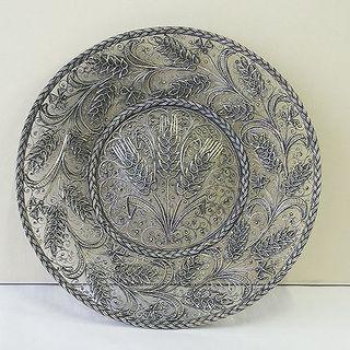 """Kazakovskaya Filigree / Plate """"Russian field"""" silvering"""