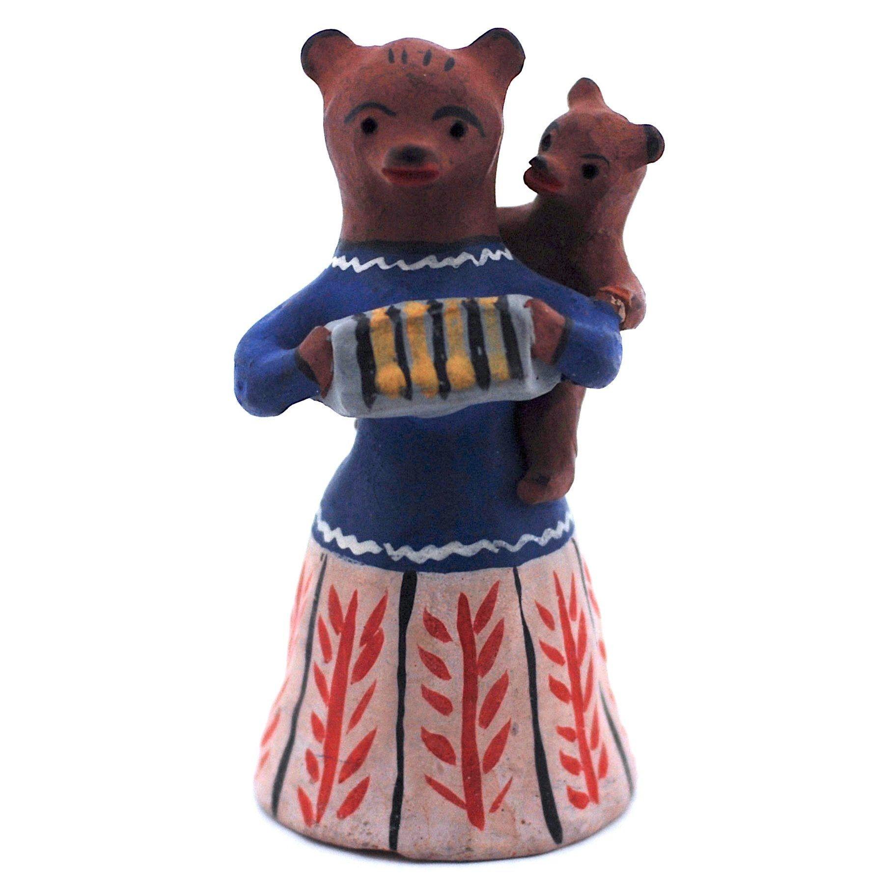 Kargopol clay toy bear with a cub