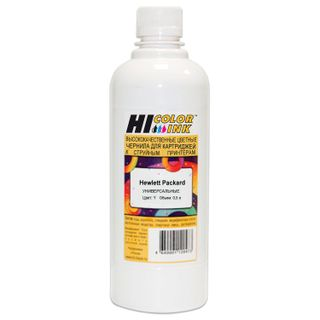 HI-COLOR ink for HP universal, yellow, 0.5 l, water