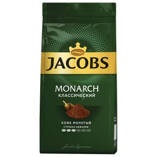 Ground coffee JACOBS MONARCH (Jacobs Monarch), natural, 230 g, vacuum packaging