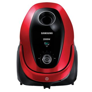 SAMSUNG vacuum cleaner VC20M257AWR/EV, with dust bag, 2000 W suction power 460 W, red
