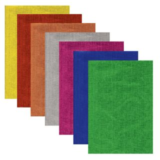 Colored foil TEXTURED A4, 7 sheets 7 colors,