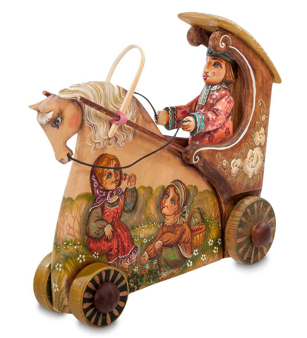 "Decor and Gift / Wooden figurine ""Carriage"""