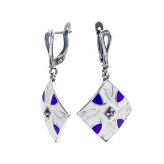 "Earrings 30213 ""motif de Losange"""