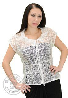 Women's chiffon blouse lace С483