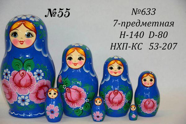 Vyatka souvenir / 7-piece matryoshka № 633