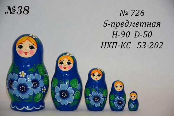 Vyatka souvenir / Matryoshka 5-piece number 726
