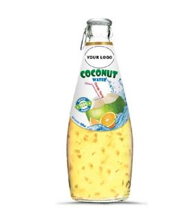Vietnam Coconut Water Drink With Private Label Factory in Bottle 290ml