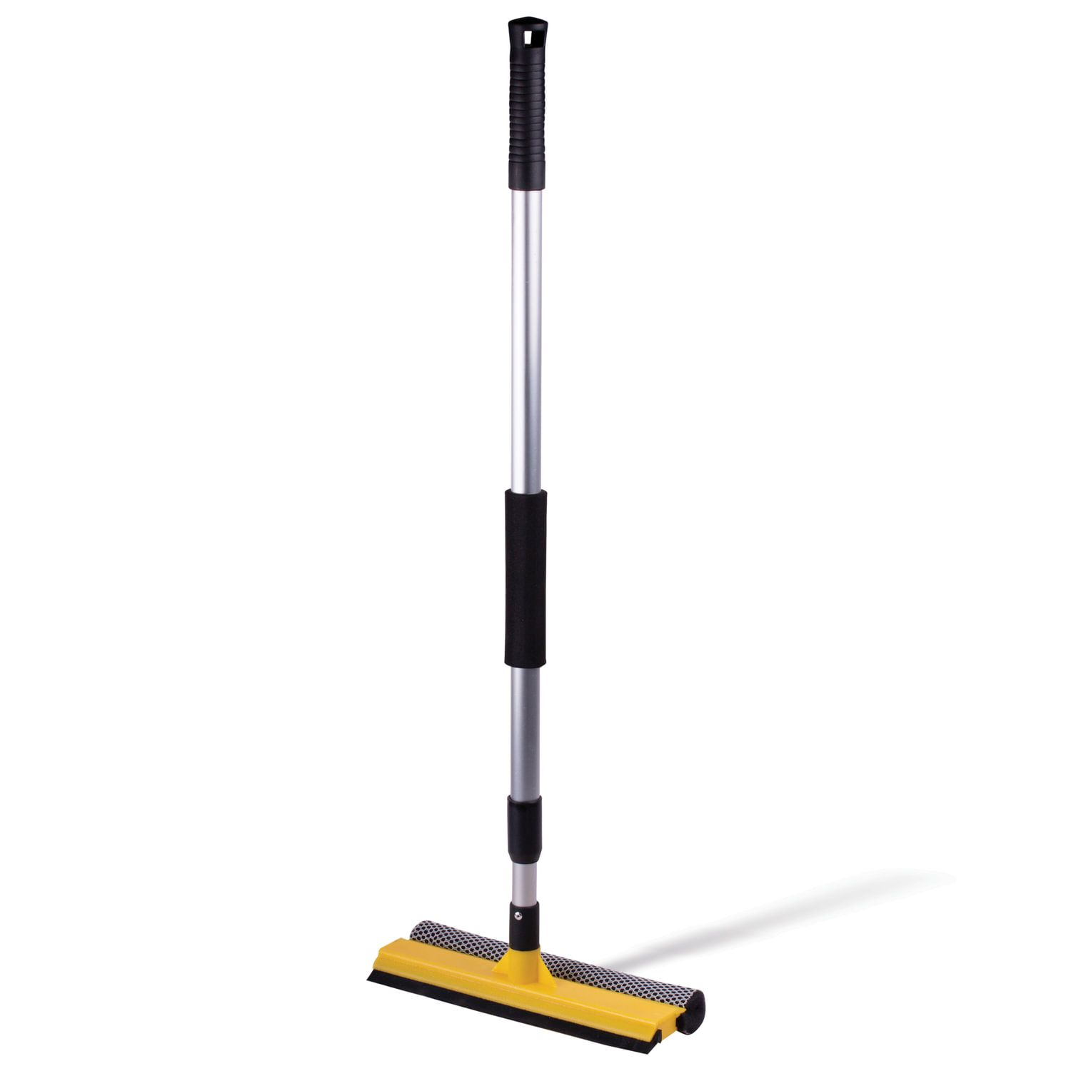 Mop for windows on a telescopic handle, length 75-120 cm, (sponge, tie, telescopic handle)