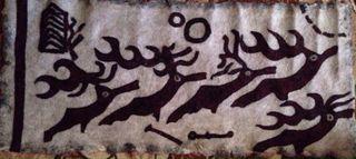 """Decorative panel """"Deer stones"""", handmade"""
