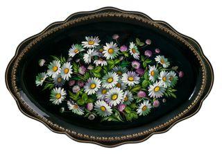 Zhostovo / Unique Tray, author Bychkov M. 61x42 cm