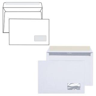 Envelopes C5 (162х229 mm), right window, peel-off strip, white, SET of 1000 PCs, inner sealing