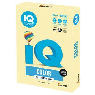 Paper I'color BIG FORMAT (297 x420 mm), A3, 80 g/m2, 500 sheets, pastel, yellow